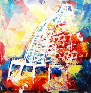 La peinture Light 2 d'Andrea Seidel a été présentée à une exposition d'art célébrant le 50e anniversaire de la maison d'adoration bahá'íe à Langenhain, en Allemagne. Douze artistes de Langenhain et de la région environnante ont exposé des peintures et des photographies inspirées par le temple.