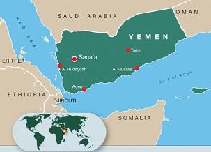 Carte du Yémen