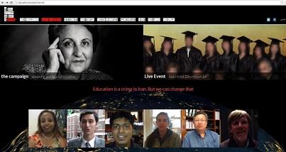 Le site de la campagne Education is Not a Crime (L'Éducation n'est pas un crime) contient des déclarations de soutien d'Iraniens éminents et de militants des droits de l'homme, ainsi que des vidéos mises en ligne par des personnes du monde entier.