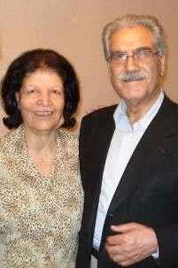 Mme Ashraf Khanjani photographiée avec son mari. Elle est décédée le jeudi 10 mars à l'âge de 81 ans. Le couple était marié depuis plus de 50 ans.