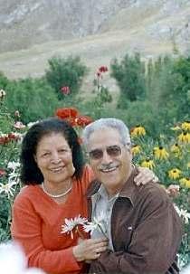 Mme Ashraf Khanjani, décédée à l'âge de 81 ans, en compagnie de son mari Jamaloddin, en des temps plus heureux.