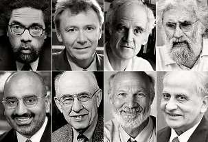 Quarante-trois philosophes et théologiens distingués ont signé une lettre ouverte protestant contre la persécution d'enseignants et d'étudiants bahá'ís en Iran. Parmi eux se trouvent des personnalités éminentes telles que : (rangée du haut, de gauche à droite) Cornel West, Princeton, USA ; Graham Ward, Oxford, G-B) ; Charles Taylor, McGill, Canada ; Leonardo Boff, Rio de Janeiro, Brésil ; (rangée du bas, de gauche à droite) Ebrahim Moosa, Duke, USA ; Hilary Putnam, Harvard, USA ; Stanley Hauerwas, Duke, USA et Tahir Mahmood, ancien membre de la Commission pour la réforme du droit, Inde.