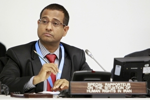 Ahmed Shaheed, le rapporteur spécial des Nations unies sur la situation des droits de l'homme en Iran. Ancien ministre des Affaires étrangères des Maldives, M. Shaheed a été nommé à ce poste en juin 2011, après une période de neuf ans pendant laquelle ce poste est resté vacant. Photo ONU/Jean-Marc Ferré.