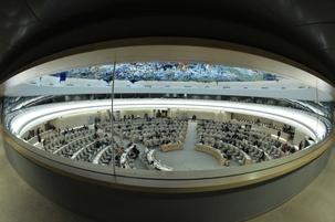 Le Conseil des droits de l'homme est un organisme intergouvernemental au sein des Nations unies. Il composé de 47 états chargés de promouvoir et de protéger les droits de l'homme dans le monde. Photo ONU/Jean-Marc Ferré.