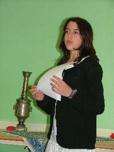 Assia, âgée de 12 ans, était une des participantes de la lecture publique « Lettre à mon Iran » qui s'est tenue le 12 juin dernier à Villeneuve d'Ascq.