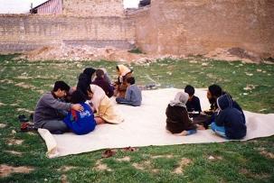 Classe à Sahlabad, près de Shiraz, en Iran