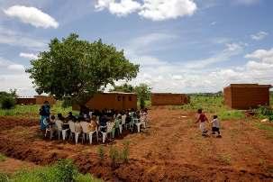 Un rassemblement bahá'í en République démocratique du Congo. La Maison universelle de justice a annoncé la construction d'une nouvelle maison d'adoration nationale dans ce pays.