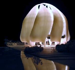 « Le Temple de Lumière » en construction près de Santiago du Chili a déjà reçu un prix d'architecture très convoité : une mention du magazine Architect dans son concours annuel Architecture Progressive.