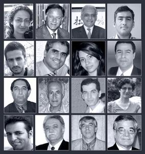 Les 16 bahá'ís initialement détenus suite aux descentes, par les autorités iraniennes, dans 30 maisons associées au personnel et aux enseignants de l'Institut bahá'í d'éducation supérieure ou IBES en mai de cette année. Des informations plus récentes indiquent que 11 d'entre eux sont toujours emprisonnés.