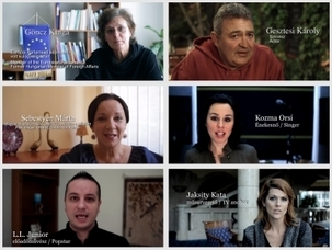 Les personnalités de la campagne « Des Hongrois éminents pour les droits de l'homme en Iran » ont mis en ligne des messages vidéos sur internet.