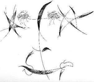 Il était possible de participer à ce projet en contribuant sous une forme artistique, telle cette calligraphie de Fereydoun.B, intitulée «  Le plus grand Nom ».