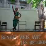 L'assistance nombreuse a pu apprécier une danse hindoue.