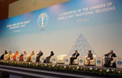 Table ronde sur l'influence de la religion sur la jeunesse lors du 5eCongrès mondial des dirigeants des religions traditionnelles mondiales.