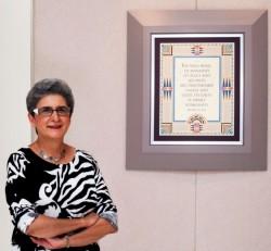 Mme Hoda Mahmoudi, actuelle titulaire de la Chaire bahá'íe pour la paix mondiale. (Photo Baha'i World News Service)