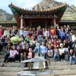 Les participants à un rassemblement de jeunes en mars à 2015 dans le quartier de Kharkhorin d'Oulan-Bator, en Mongolie.
