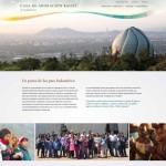Le site récemment mis en ligne pour la maison d'adoration bahá'íe à Santiago du Chili.