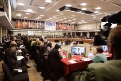 Réunion de mise en œuvre de l'Organisation sur la sécurité et la coopération en Europe (OSCE) (Crédit photo : OSCE/Piotr Markowski)
