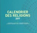 La rosace qui illustre la couverture du calendrier est constituée des 8 symboles des cultes ayant participé à sa réalisation avec les représentants de la mairie de Strasbourg.