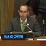 Daniel Perell, à la 55e Commission des Nations unies pour le développement social.