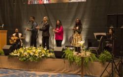 Une prestation musicale à la réception du Naw-Rúz à Jérusalem.
