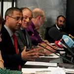 Ahmed Shaheed, le rapporteur spécial de l'ONU sur la liberté de religion ou de conviction, parlant lors de la réunion d'experts sur La Religion pour les droits, organisée par le haut-commissariat des Nations unies aux droits de l'homme à Beyrouth, du 28 au 29 mars 2017.