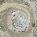 À Agua Azul, dans la région du Norte del Cauca en Colombie, les travaux de construction du temple sont bien avancés.