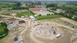 De nouvelles images vidéo montrent les progrès de la construction de la maison d'adoration locale dans le Norte del Cauca, en Colombie.