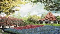 Une présentation artistique de la future maison d'adoration locale dans le Norte del Cauca, en Colombie