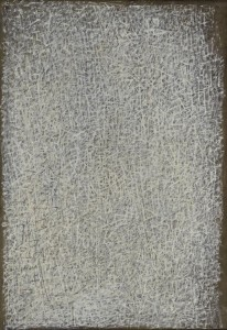 Mark Tobey Cristallizzazioni (Cristallisations), 1944, tempera sur panneau 45,7 x 33 cm, Iris & B. Gerald Cantor Center for Visual Arts, université de Stanford, le fonds Mabel Ashley Kizer, donation Melitta et Rex Vaughan, Modern and Contemporary Acquisitions Fund