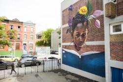 La peinture murale To Blossom (S'épanouir) de l'artiste Tatyana Fazalizadeh est située à l'école PS92 à Harlem. C'est une partie de la campagne L'Éducation n'est pas un crime, qui sensibilise au refus d'accès à l'éducation visant les bahá'ís iraniens.