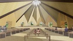Une vue intérieure du temple qui pourra accueillir 300 personnes