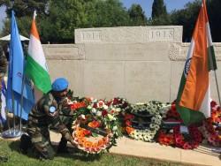 Le 25 septembre de cette année, une commémoration a eu lieu au Haifa Indian War Cemetery (cimetière de guerre indien à Haïfa) pour rendre hommage aux soldats qui y perdirent la vie.