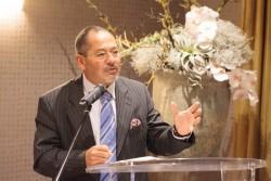Ibrahim Salama, directeur de la division des traités des Droits de l'homme au haut commissariat aux Droits de l'homme, s'exprimant au cours de la réception à Genève.