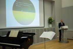 Jan Figel, l'envoyé spécial de l'Union européenne pour la promotion de la liberté de religion ou de conviction en dehors de l'UE, s'exprimant lors de la réception à Bruxelles