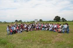 Quelques-uns des volontaires qui ont travaillé au « bosque nativo » (forêt autochtone)