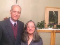 Behrooz Tavakkoli et son épouse