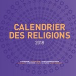 La couverture de la 6e édition du calendrier interreligieux de Strasbourg reprend la rosace formée par les symboles des 8 religions du calendrier.