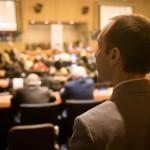 Daniel Perell, représentant de la CIB à la 56e Commission pour le développement social. Il est président du Comité des ONG pour le développement social.