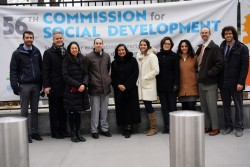 La délégation de la Communauté internationale bahá'íe à la 56e Commission pour le développement social