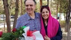 Vahid Tizfam et sa femme, Furuzandeh Nikumanesh, réunis après ses dix ans d'emprisonnement
