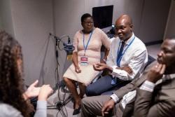 Judicaël Mokolé partage l'expérience des écoles communautaires dans son pays d'origine, la République centrafricaine.