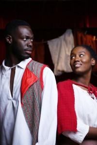 Une scène de la comédie musicale montre la séparation forcée de Henry Brown avec sa femme enceinte Nancy et leurs trois enfants.