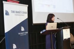 La Chaire bahá'ie pour la paix dans le monde a organisé une conférence sur le défi de la paix et de la sécurité mondiales les 16 et 17 octobre à l'université du Maryland, College Park. Margarita Quihuis, codirectrice de Peace Innovation Lab de l'université de Stanford, a parlé de l'importance des valeurs inhérentes à la technologie dans l'un des discours liminaires de la conférence.