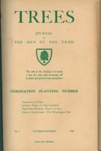 Un exemplaire du premier numéro de Trees, que St Barbe a créé en 1936. Aujourd'hui, Trees est le journal environnemental le plus ancien. (Crédit : International Tree Foundation)