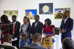 Le 22 février, la cérémonie d'inauguration des nouvelles installations à Mwinilunga, en Zambie, a débuté par des prières.