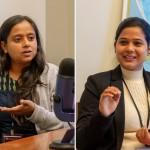 Bhavna Anbarasan (à gauche) et Pooja Tiwari, toutes deux de New Delhi, ont discuté avec le Bahá'í World News Service d'un groupe de jeunes femmes qui ont organisé une campagne de sensibilisation afin de partager une compréhension scientifique et spirituelle de la menstruation.