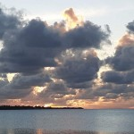 Lever du soleil au Kiribati sur les îles de la Ligne