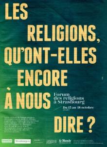 Le second Forum des religions se déroulera du 15 au 18 octobre 2020 à Strasbourg.