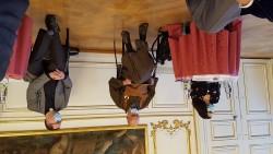 L'ouverture du Forum des religions s'est faite le jeudi 15 octobre de 8h30 à 10h à l'Hôtel de ville de Strasbourg, la parole était aux représentants des huit cultes membres du Comité interreligieux de la Région du Grand-Est. De gauche à droite : Mme Hamdam Nadafi (représentante des bahá'ís), M. Olivier Wang-Genh (représentant des bouddhistes) et le Jean-Luc Liénard  vicaire général du Diocèse de Strasbourg (représentant des catholiques).