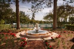 Une fontaine dans le jardin du Riḍván situé à Akka en Terre sainte où Bahá'u'lláh aimait venir se reposer.